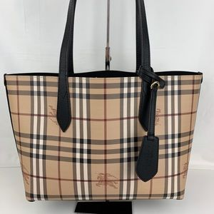 New Burberry Small Haymarket Reversible Tote